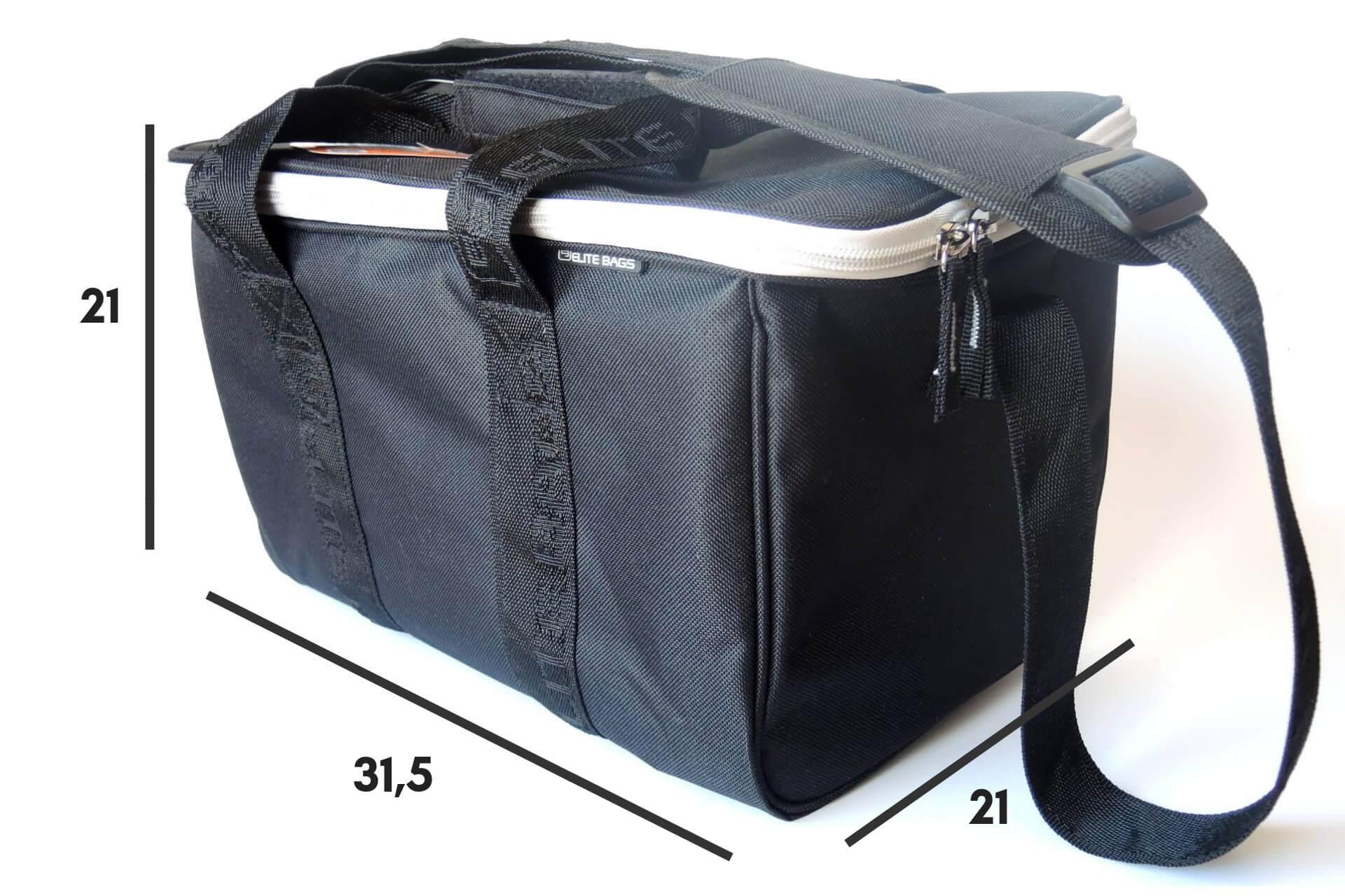 Kleine Pflegetasche schwarz mit Tragegurt Maße 12 x 21 x 31,5
