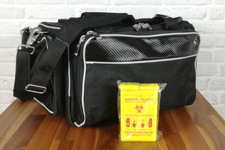 Abwurfbehälter für gebrauchte Kanülen CONBIO'S gelb