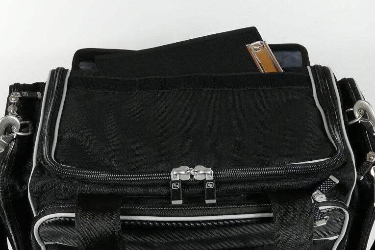 Deckeltasche außen für Klemmbrett oder Tablet